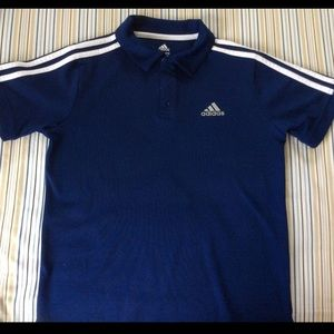 ADIDAS Performance Golf Polo Shirt Boys Med 10/12